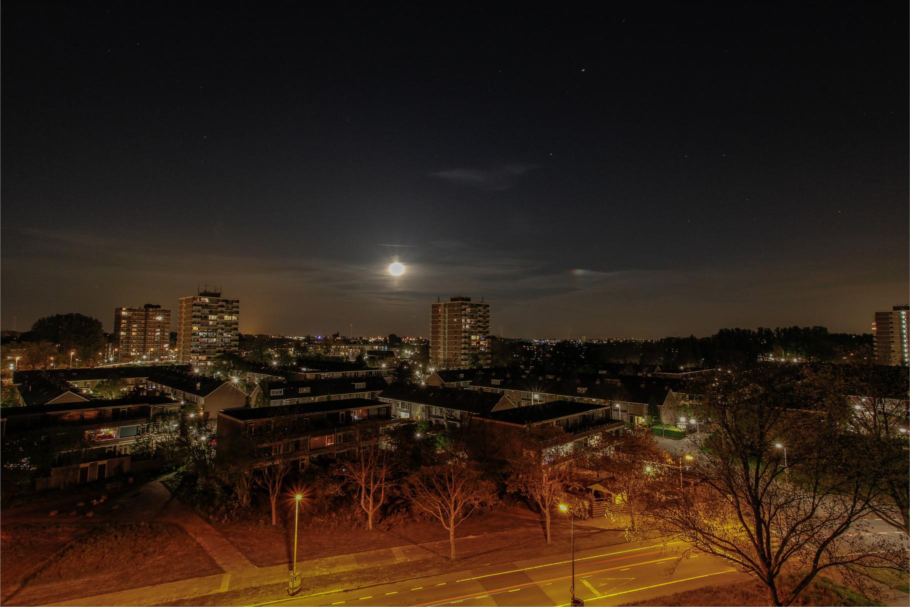 Nachtfoto wijk 13 Zoetermeer - DOKOE Fotografie