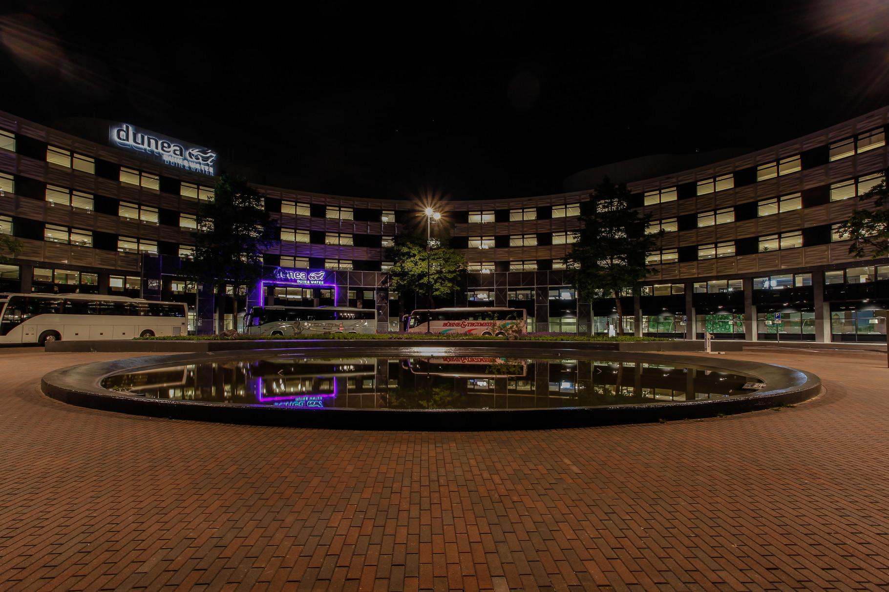 Nachtfoto Dunea kantoor Zoetermeer - DOKOE Fotografie