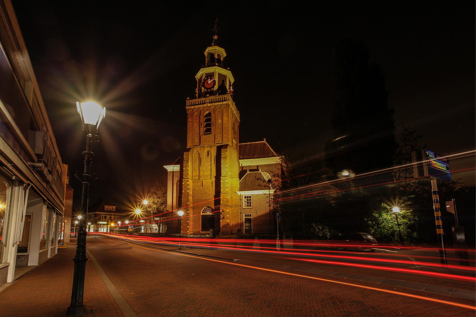 Nachtfoto kerk Leidsewallen Zoetermeer - DOKOE Fotografie