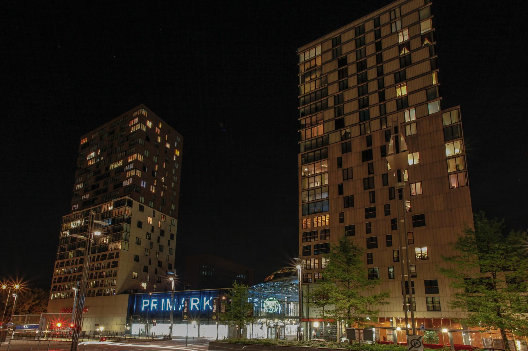 Nachtfoto Centrum West Zoetermeer - DOKOE Fotografie