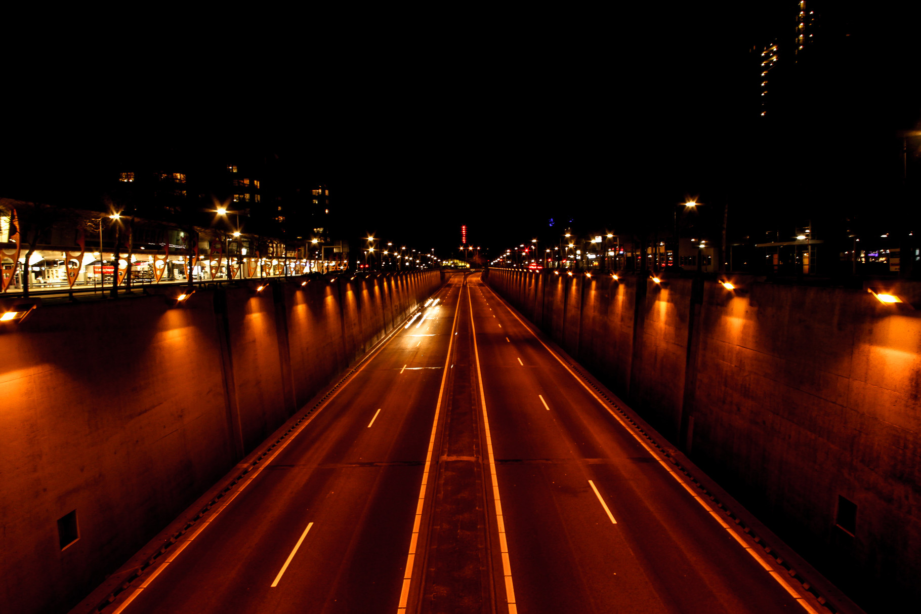 Nachtfoto tunnelbak Zoetermeer - DOKOE Fotografie