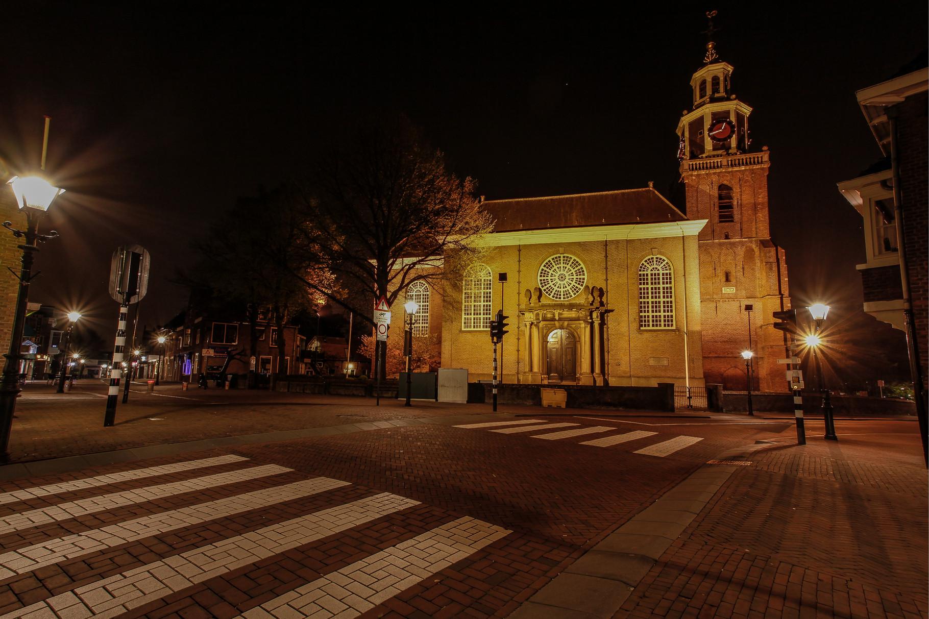 Nachtfoto Dorpsstraat Zoetermeer - DOKOE Fotografie