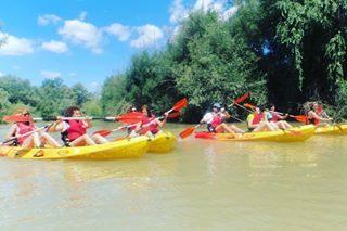 descenso en kayak por aguas bravas Ecija