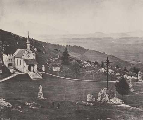 Marienkapelle auf halbem Weg zum Kalvarienberg bei Füssen im 19. Jahrhundert
