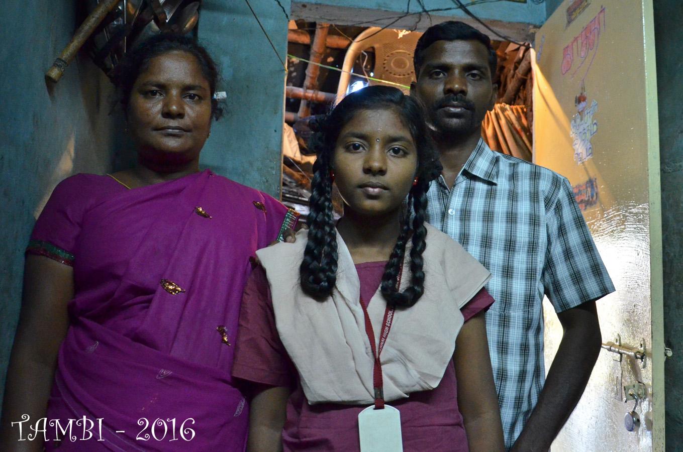Janvier 2016 - Pavithra et ses parents