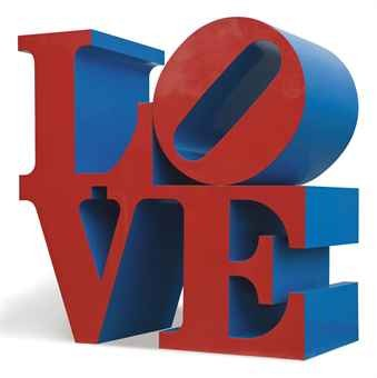 Robert Indiana: 'Love' (Red & Blue)