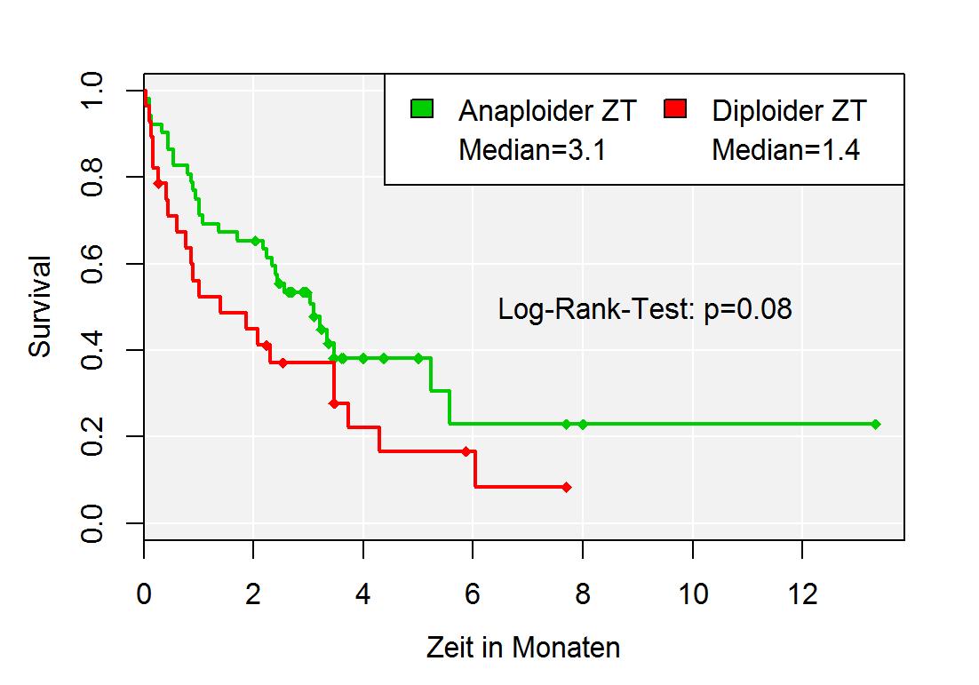 Kaplan-Meier-Überlebenskurven