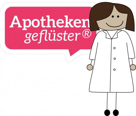 Apothekengeflüster® Logo mit Apothekerin 560x476