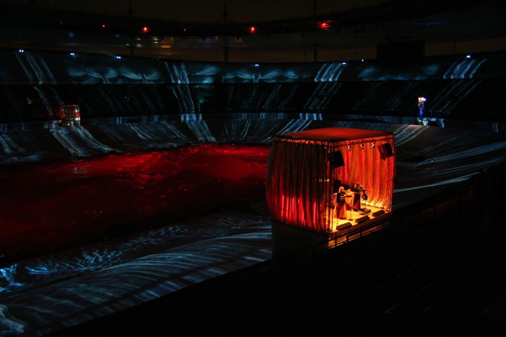 """Paris 2005 """"Unsere fahrbare Bühne im Stade de France"""""""