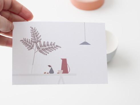 """Postkarte """"Stilleben"""" designed by Ruth Landesa für Nämä"""