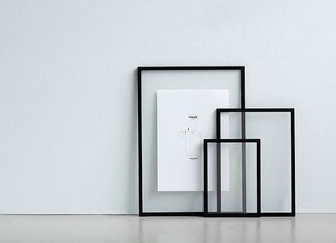 Bilderrahmen FRAME von Moebe, pulverbeschichtetes Aluminium