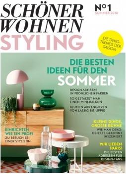 Papeterie aus dem INK + OLIVE Sortiment in Schöner Wohnen Styling 01/2016
