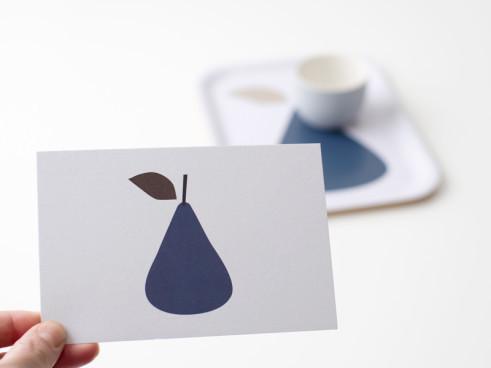 "Postkarte ""päärnyä"" designed by Ruth Landesa für Nämä"