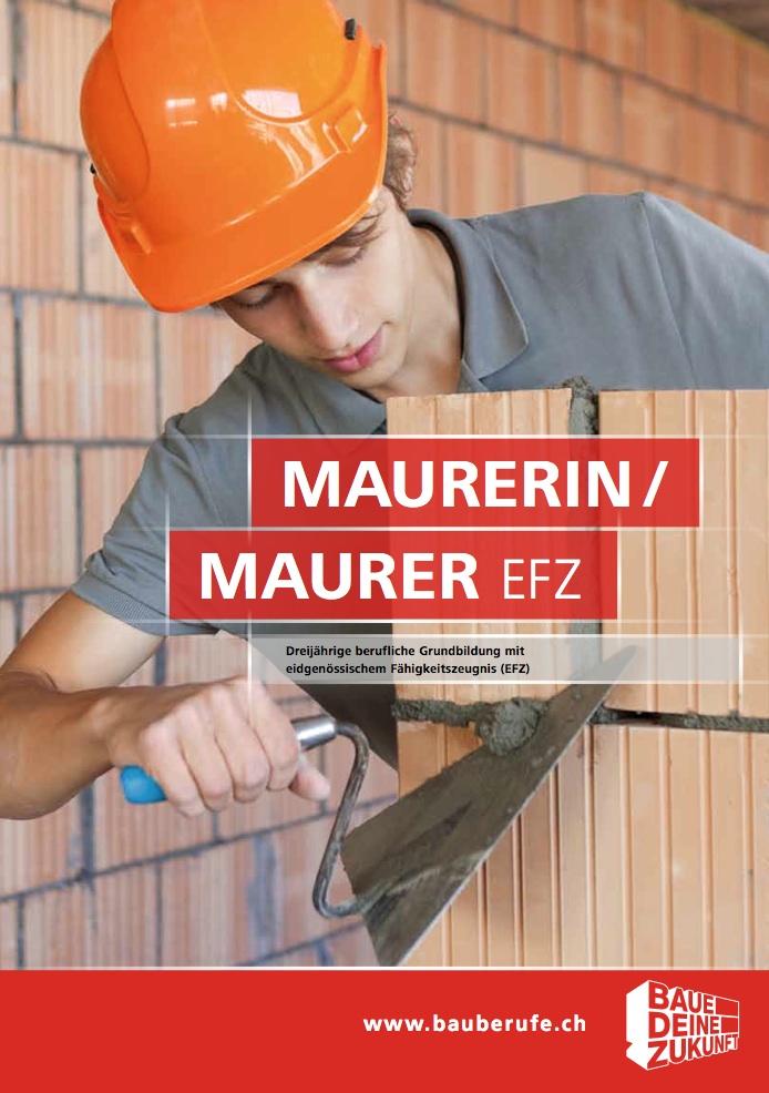Maurer berufsbild  Berufsbild Maurer/-in EFZ - MLS Maurerlehrhallen Sursee