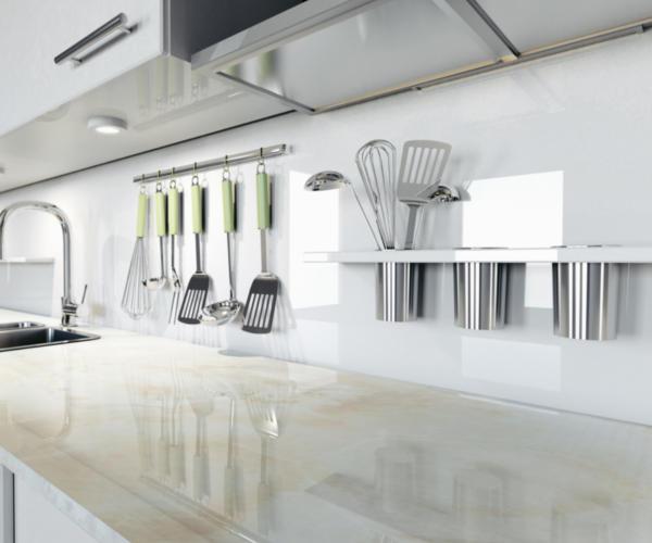 Küchenrückwand aus Verbundstoff