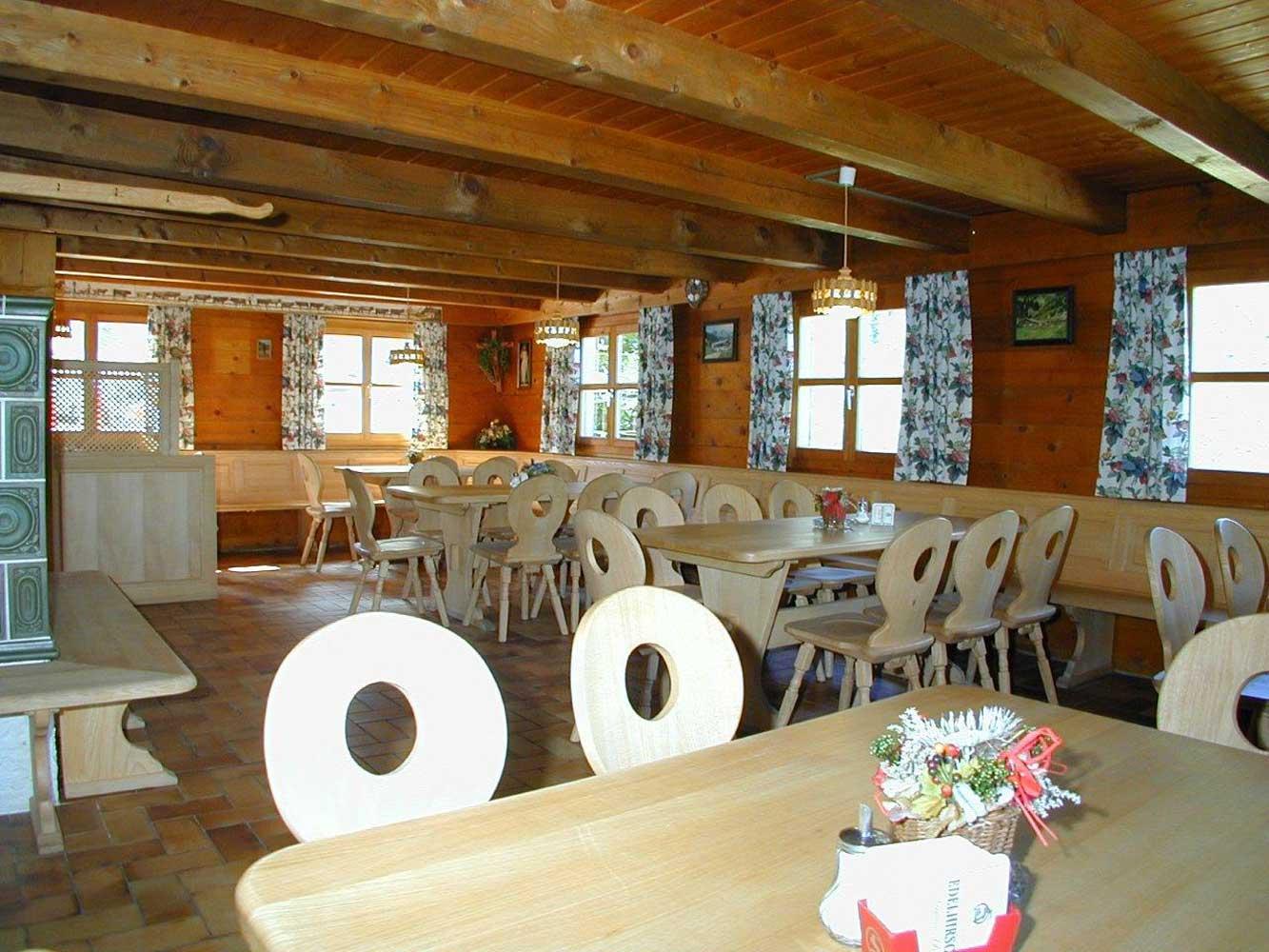 Innere Wiesalpe Kleinwalsertal, Ausflugsziel, Alpe, Brotzeit – Hüttenraum