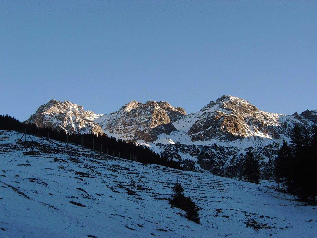 Innere Wiesalpe Kleinwalsertal, Ausflugsziel, Alpe, Brotzeit – tolle Bergsicht