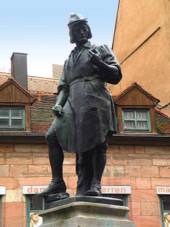 Brunnen denkmal Peter Hänlein Sehenswürdigkeiten Deutschland Nürnberg