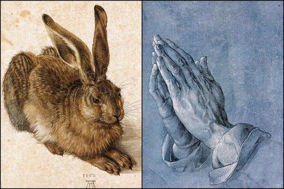 Albrecht Dürer, der Hase, die betenden Hände Sehenswürdigkeiten Deutschland Nürnberg