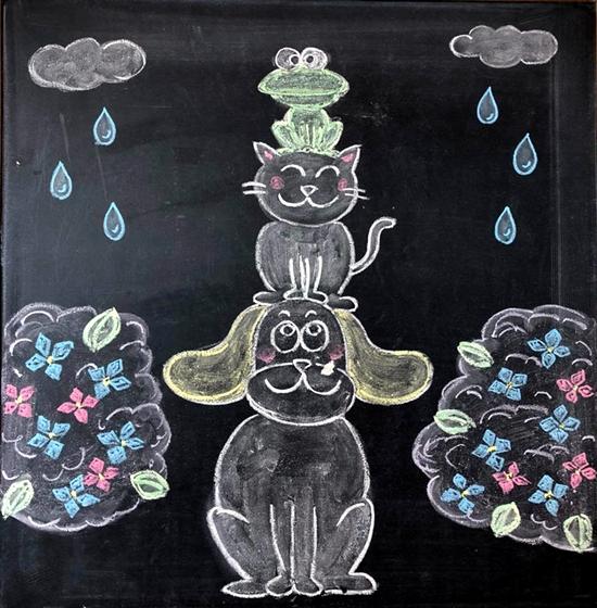 6月の黒板アート