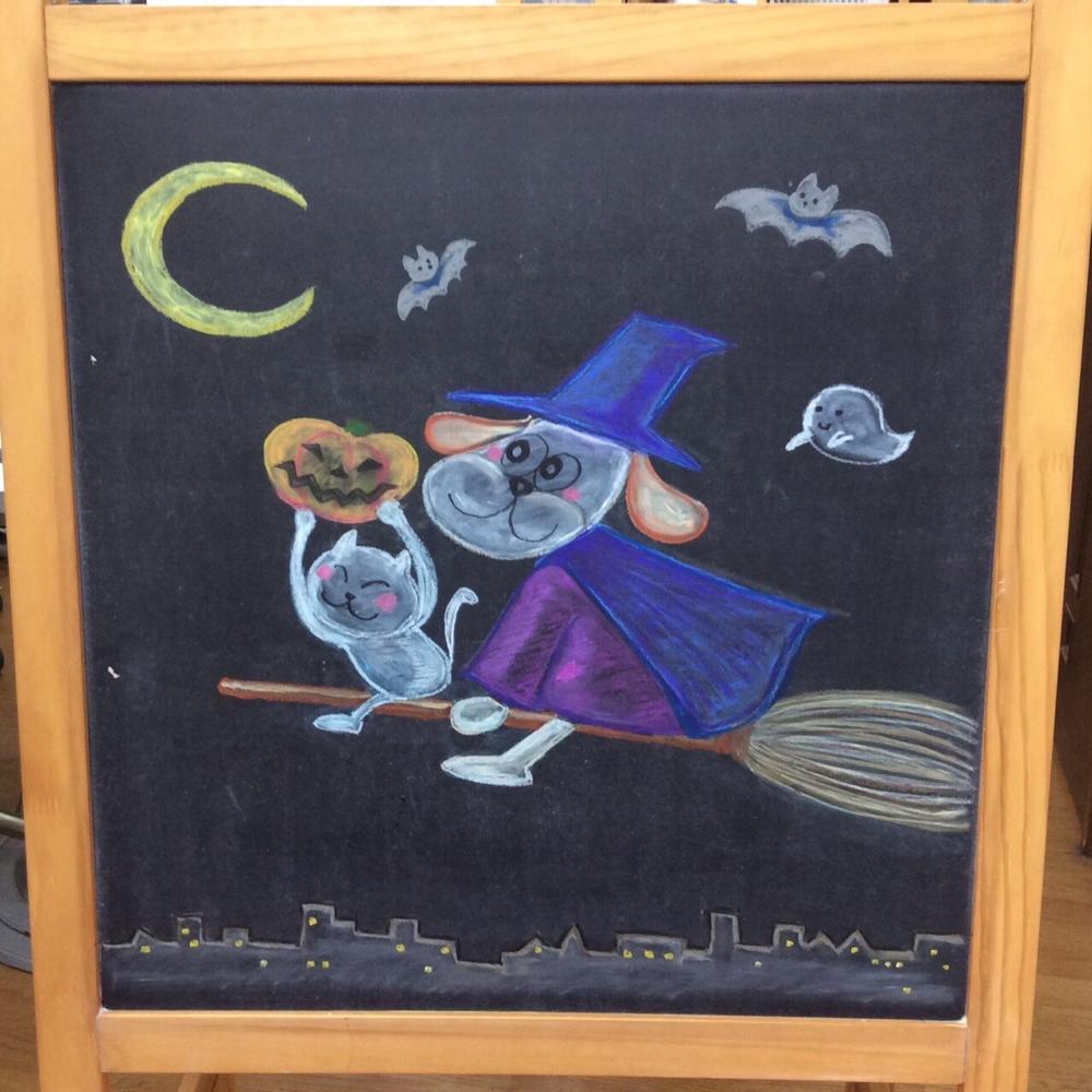 10月の黒板アート