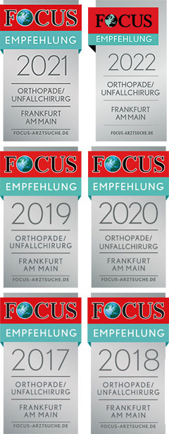 Focus Empfehlung Orthopäde / Unfallchirurg Frankfurt am Main 2017 / 2018