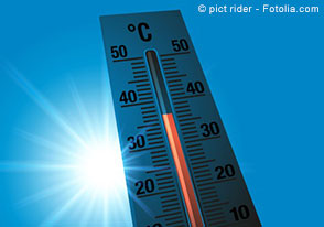 Thermometer bei 36 Grad Celsius