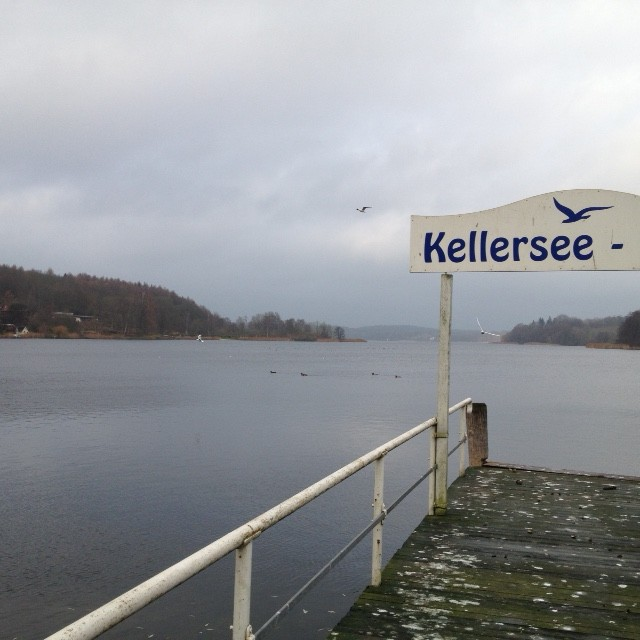 7.12.14: ein wichtiger Meilenstein geschafft: den Kellersee umrundet.