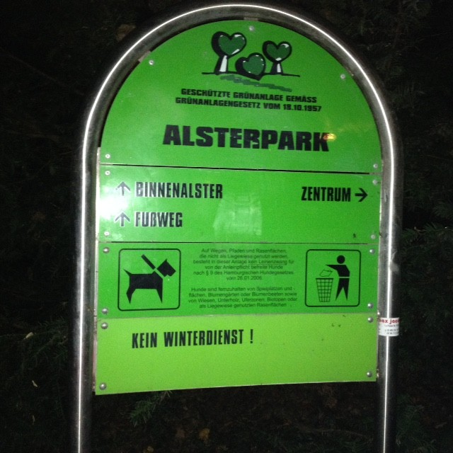 28.10.14: bis zum Alsterpark (südliche Alster) im leichten Trab.