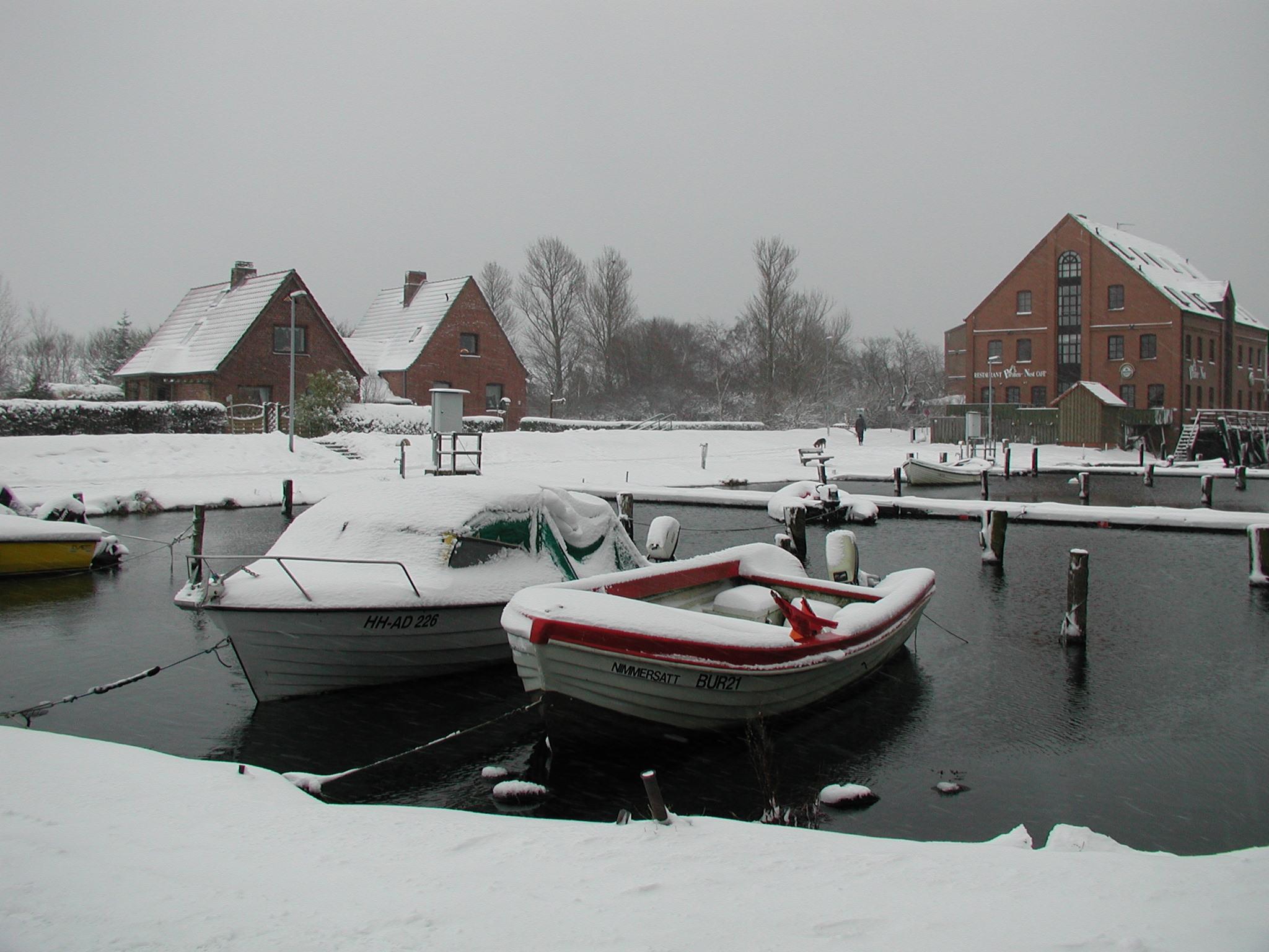 Hafen Orth im Winter, Winteridylle