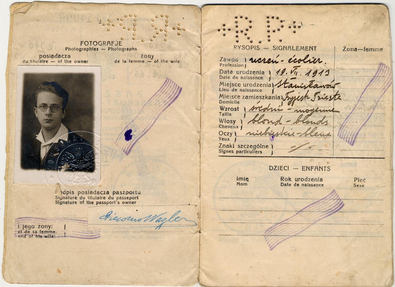 Passaporto polacco di Giacomo Nagler (Kubi) 1929 (pag. 2)