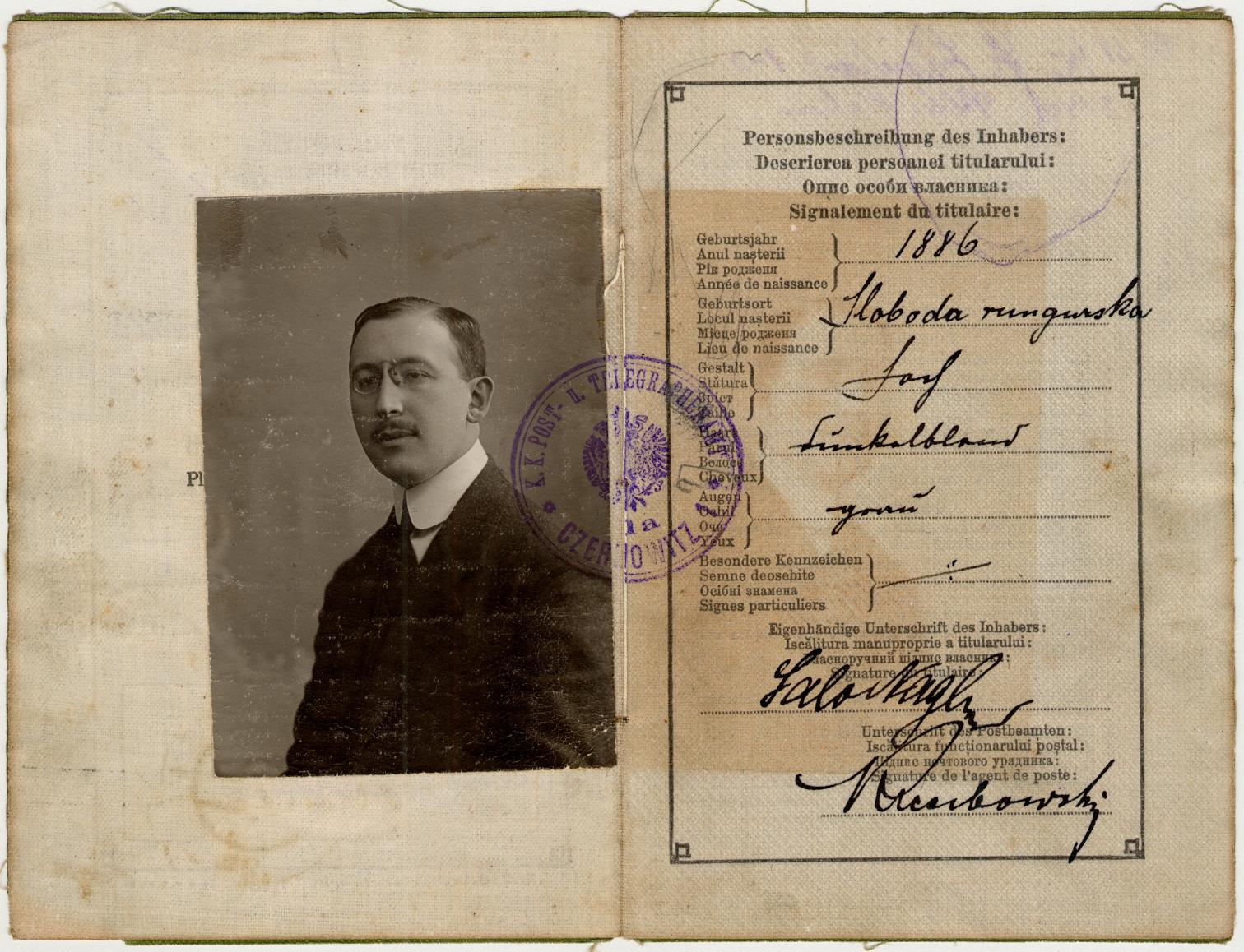 Carta d'identita Salo 1913