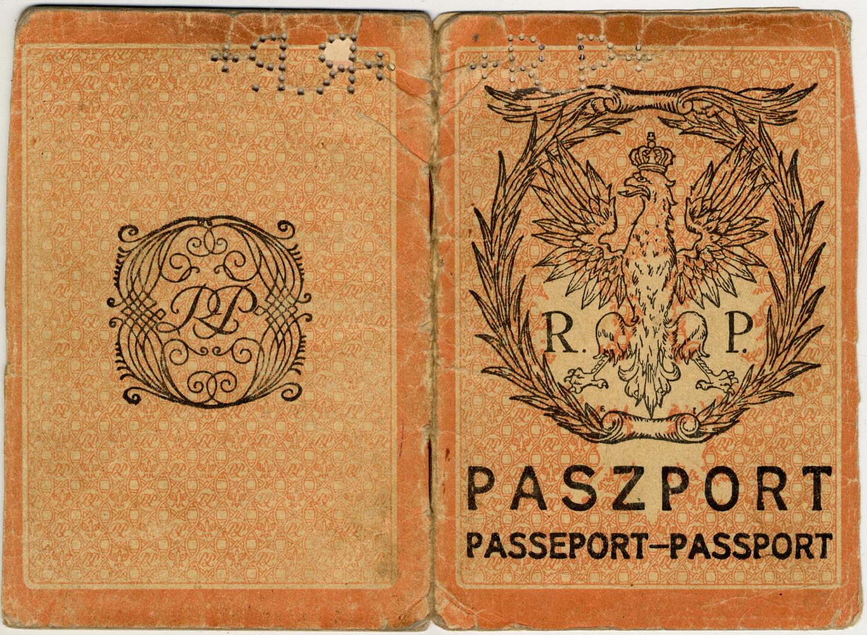 Passaporto polacco di Giacomo Nagler (Kubi) 1929 (copertina)