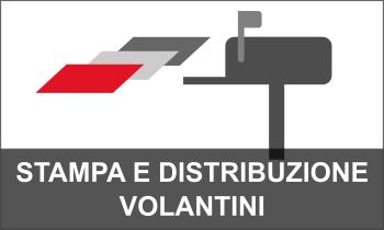 Stampa e distribuzione volantini