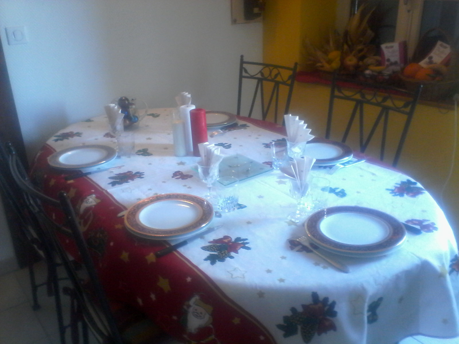Table d'hôtes de Noël