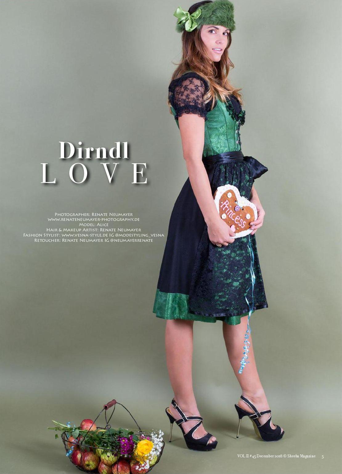 Dirndl Love - SHEEBA UK, December 2018 No. 45 Vol. II