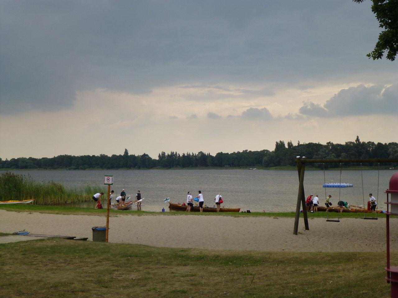 Hohennauer- Ferchesaer- See, Blick von der Fischgaststätte aus