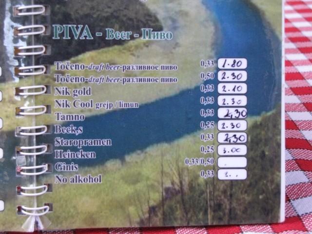 Bierpreise in Budva