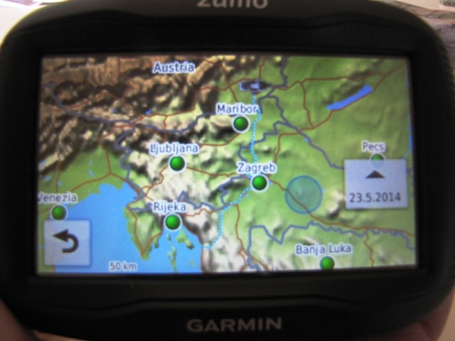 Route nach Haus