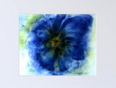 Nr.97/04   Airbrush auf Spezialpapier Fin Art 80x60 cm inkl. Karton -Passepartout, Glas, Metallrahmen Blau inkl. Rückwand   € 420.-