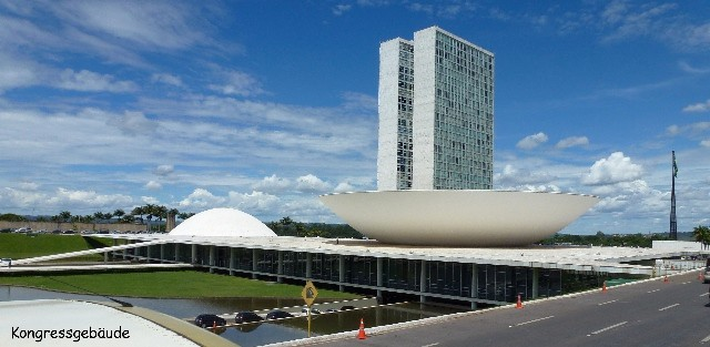 Bild: Kongressgebäude in Brasilia