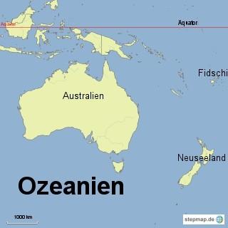 Bild: Karte von Ozeanien