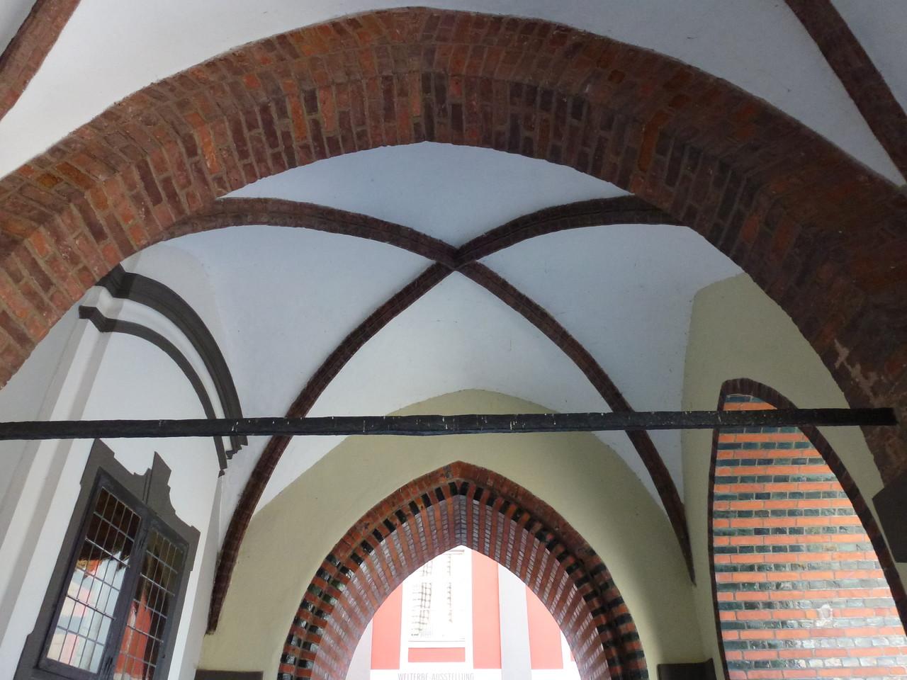 Gewölbedecke im Rathaus