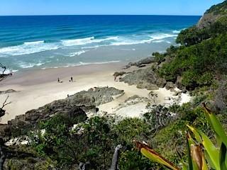 Bild: Blick auf den `Seven Mile Beach`