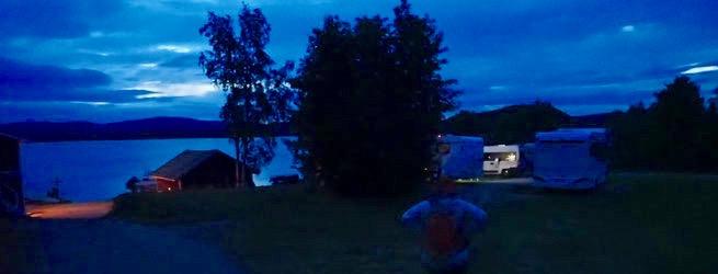 Bild: Übernachtungsplatz am Abend