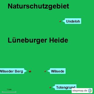 Bild: Karte Naturschutzgebiet Lüneburger Heide