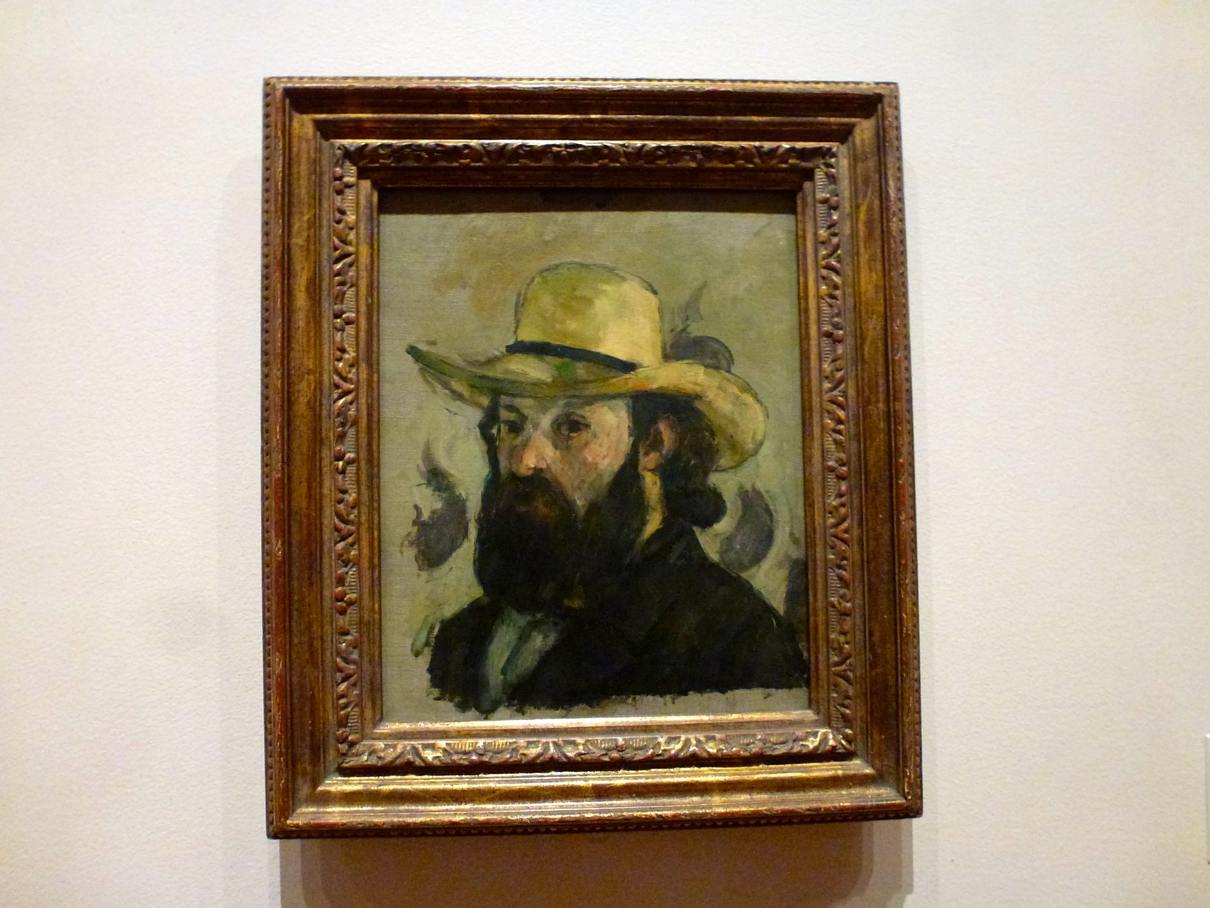 Paul Cézanne - Self-Portrait in a Straw Hat (1875/76)