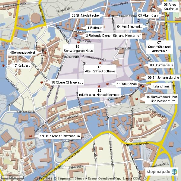 Bild: Stadtplan von Lüneburg