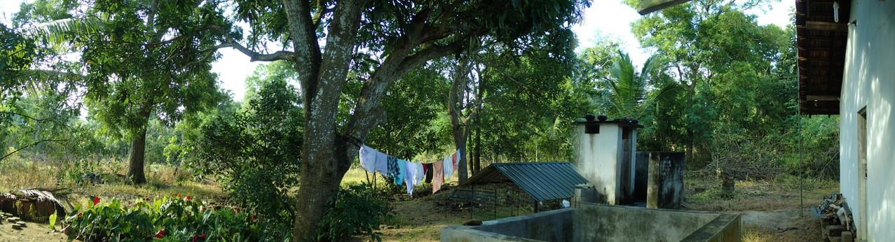 Der Garten unserer Unterkunft