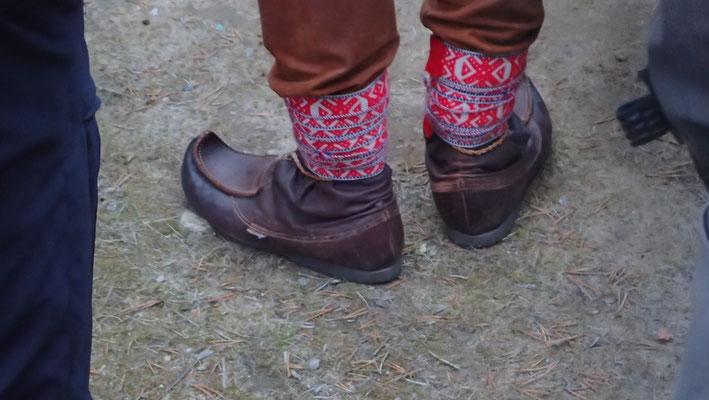 Bild: Traditionelle Schuhe der Samen